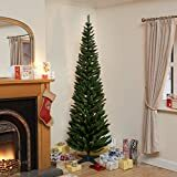 Afbeelding van Snowtime 4ft Green Pine Pencil Slim Artificial Tree with 168 Branch Tip (klik om meer maten te zien)