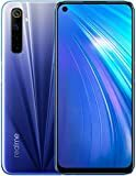 "Bild på realme 6-4GB + 64GB, NFC, 6,5 ""Ultra-smidig skärm, Simfri, 64MP AI Quad-kamera, UK-version - Comet Blue"