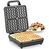 Billede af VonShef Waffle Maker, Large Quad Belgian Belgian Waffle Easy Clean Non-Stick Coated Plates & Automatic Temperature Control, Compact Stainless Steel Design - 1100W