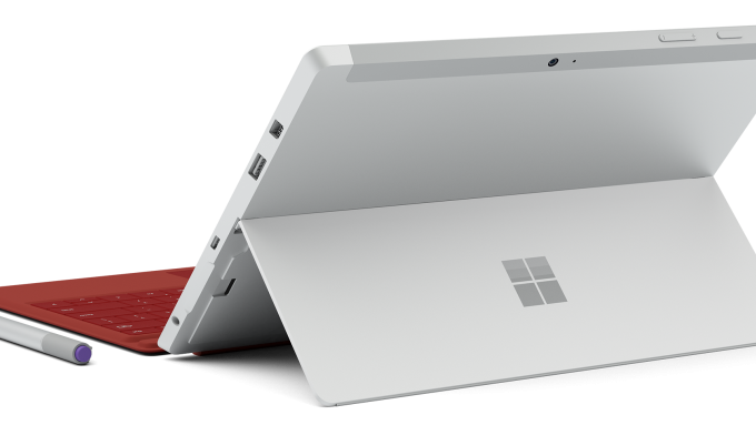 Microsoft Surface 3 posteriore