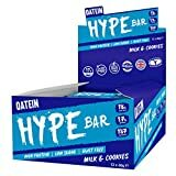 Image de Oatein Hype High Protein Bar (12 x 60g), Low Sugar, Low Carb and Less than 190 Calories - Milk & Cookies Flavor