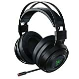 Bild av Razer Nari Ultimate Wireless 7.1 Surroundljud Gamingheadset: THX Audio & Haptic Feedback - Autojustera huvudband - Chroma RGB - Infällbar mikrofon - För PC, PS4, PS5 - Svart