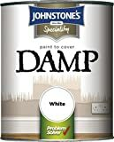 Billede af Johnstones 307955 Paint to Cover Damp White, 750ml